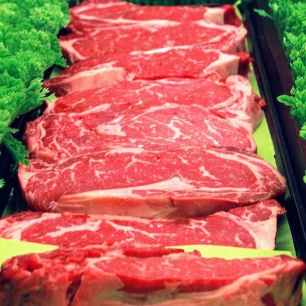 steak in case